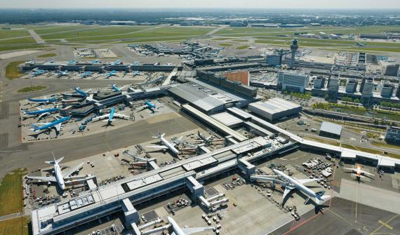 Overhead Shot of Amsterdam Airport Schiphol